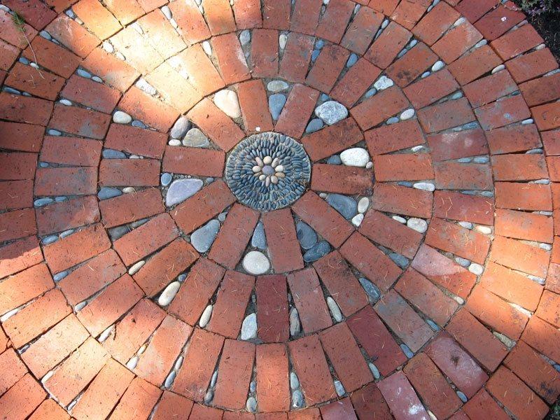 Permeable Patio, Permeable Paving Paving Jeffrey Bale Garden Design  Portland, OR