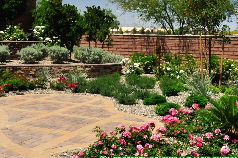 Two Tone Pavers, Paver Design Paving Chip-N-Dales Landscaping Las Vegas, NV