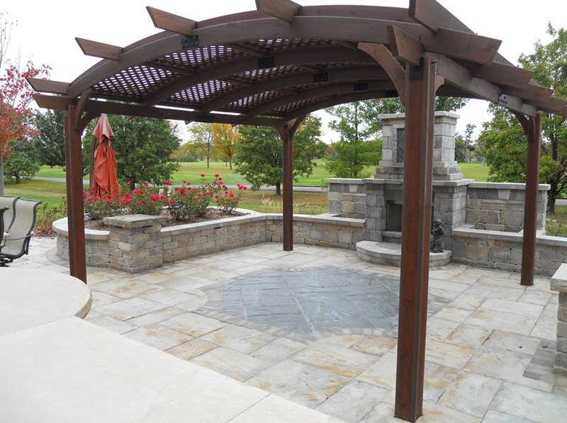 Arched Patio Cover Pergola and Patio Cover County Wide Landscaping Elburn, IL