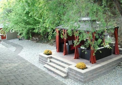 Covered Patio Pergola And Patio Cover Land Works Landscaping Ltd. Kelowna,  British Columbia