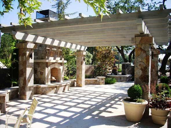 Fireplace Pergola Pergola and Patio Cover Cagwin & Dorward Novato, CA