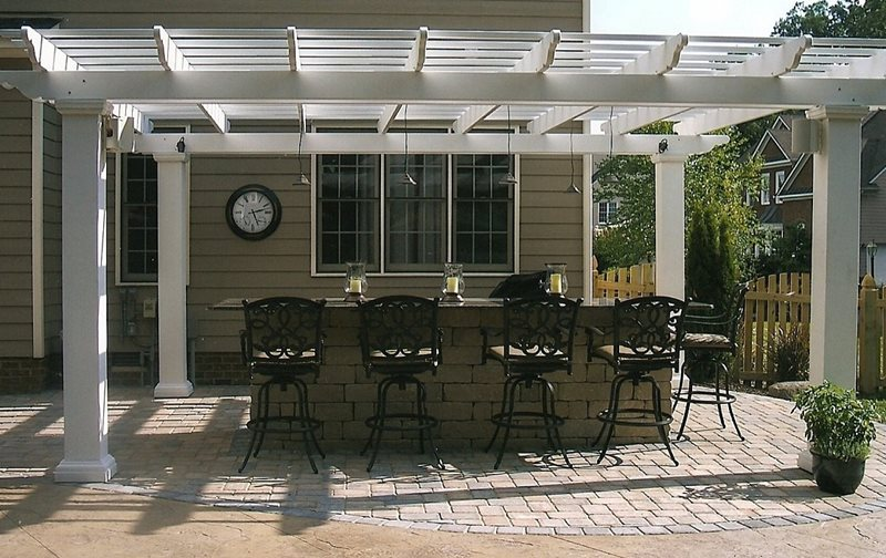 Outdoor Kitchen Pergola Pergola and Patio Cover Carville Landscape Co Glen Allen, VA