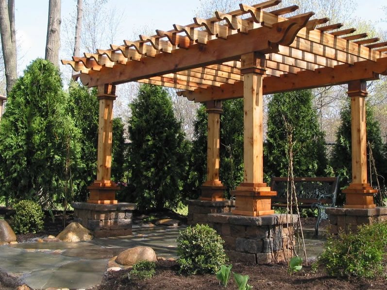 Patio Cover Piers Pergola And Patio Cover Sitescapes Landscape Design Stony  Brook, NY