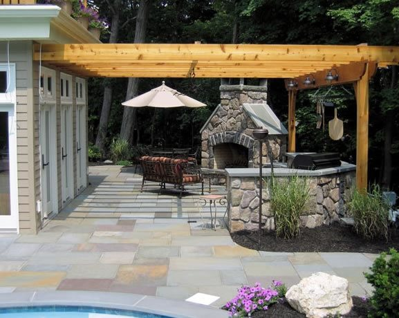 Pergola Over Grill Pergola and Patio Cover Harmony Design Group Westfield, NJ