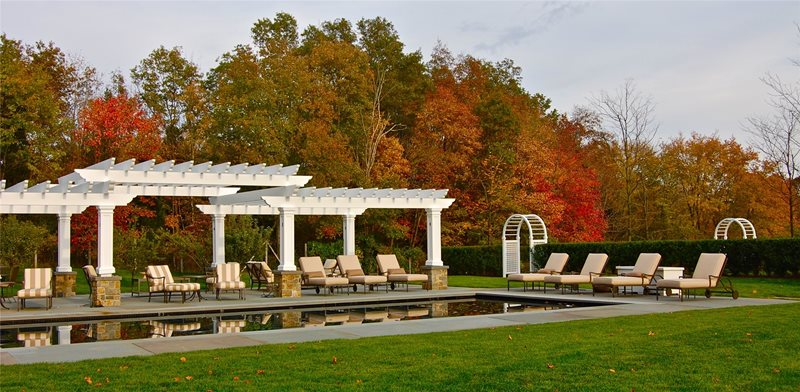 Pool, Pergola, Classic, Lounges, Lawn Pergola and Patio Cover Liquidscapes Pittstown, NJ