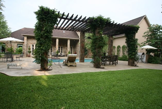 Vine Covered Pergola Pergola And Patio Cover Landvisions TX Tyler, TX
