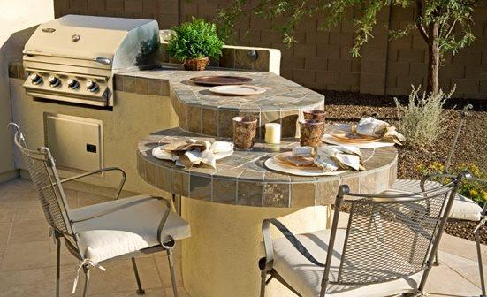 Outdoor Kitchen Bar Phoenix Landscaping EarthArt Landscape & Designs, Inc. Phoenix, AZ