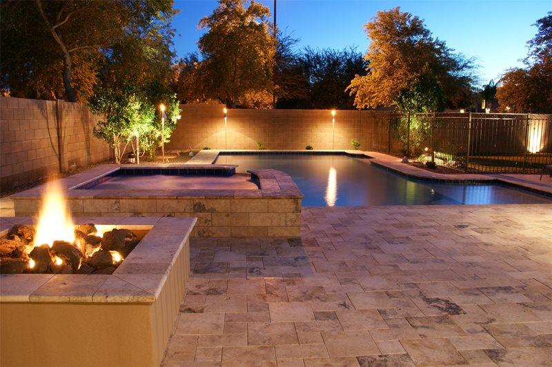 Pool Lights Phoenix Landscaping Alexon Design Group Gilbert, AZ