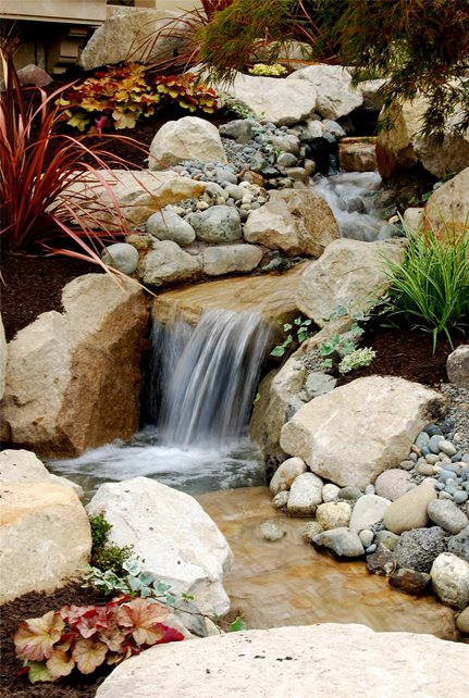Backyard Waterfall Pond and Waterfall Oasis Outdoor Environments Woodinville, WA