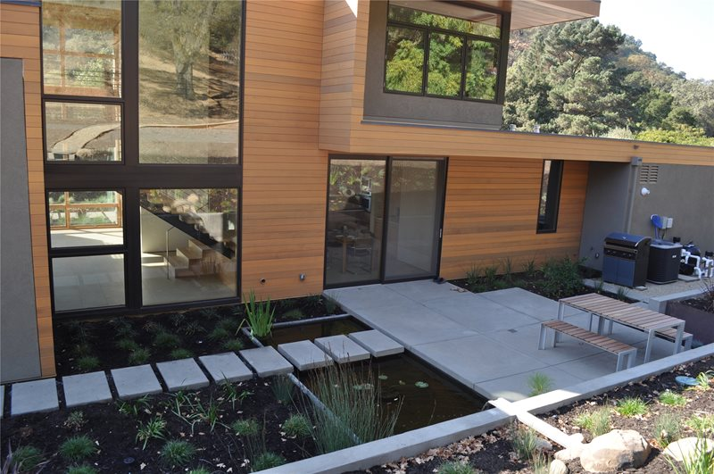 Modern, Pond Pond and Waterfall Huettl Landscape Architecture Walnut Creek, CA