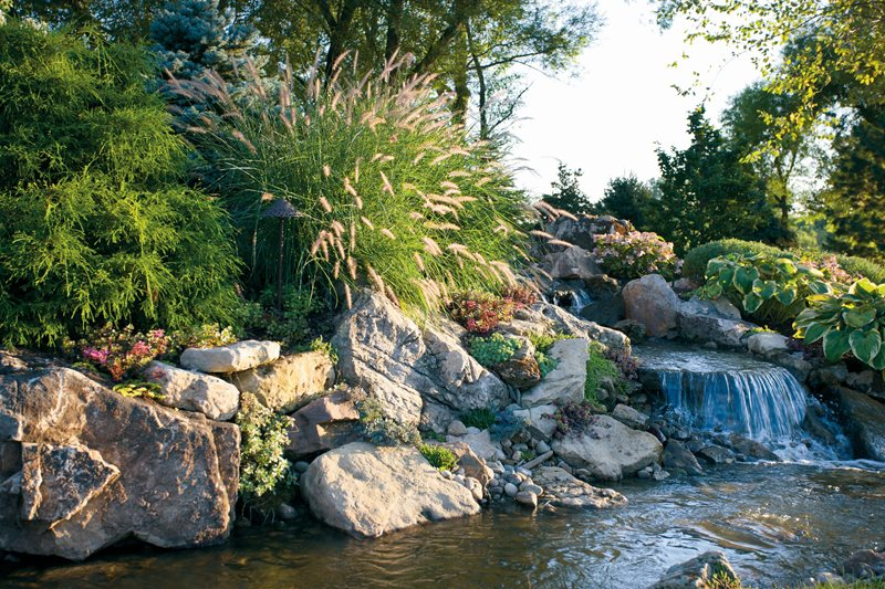 Pond And Waterfall Valparaiso In Photo Gallery