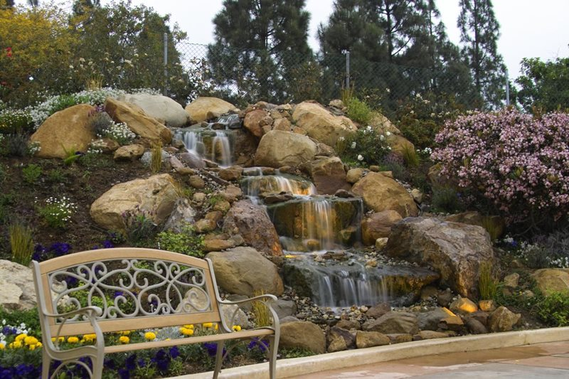 natural boulder hillside waterfall pond and waterfall lifescape designs simi valley ca