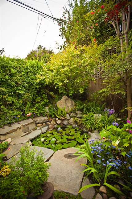 Pond Area Pond and Waterfall Landscaping Network Calimesa, CA