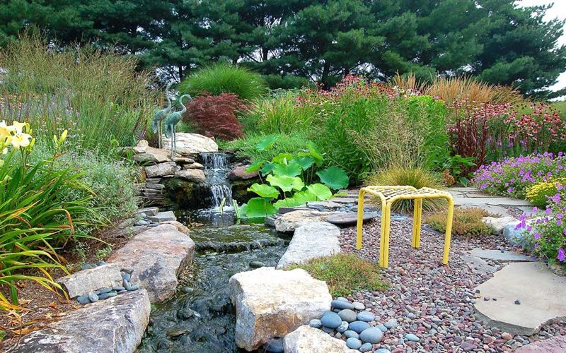 Water Feature Stream Pond and Waterfall Fernhill Landscapes Strasburg, PA