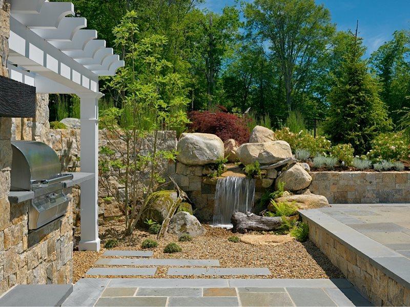 pondless rock waterfall recently added yard boss landscape design llc mattapoisett ma - Waterfall Landscape Design Ideas