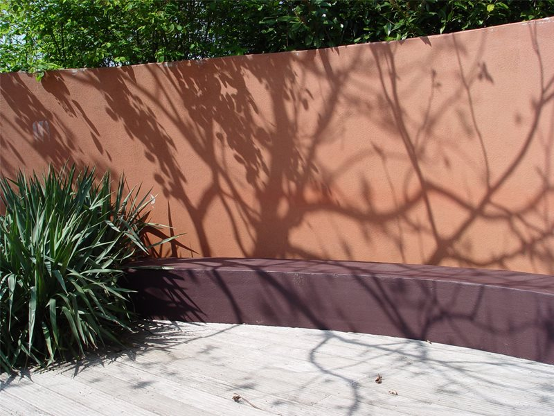 Colorful Garden Wall Retaining and Landscape Wall Maureen Gilmer Morongo Valley, CA