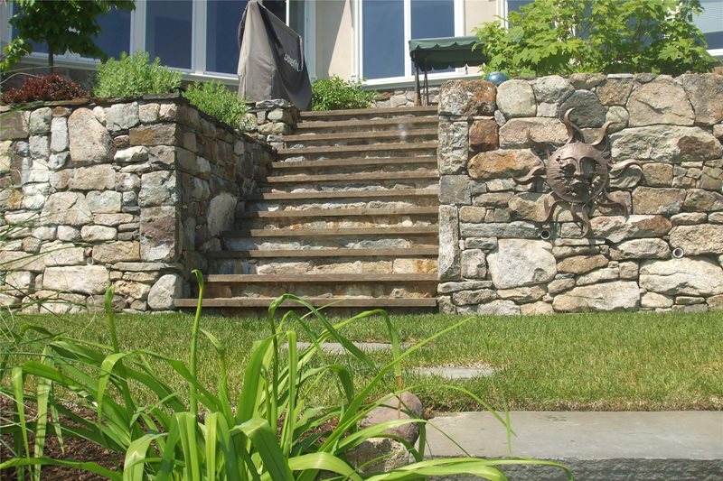Lake Retaining Walls Retaining and Landscape Wall Natures View Sloatsburg, NY
