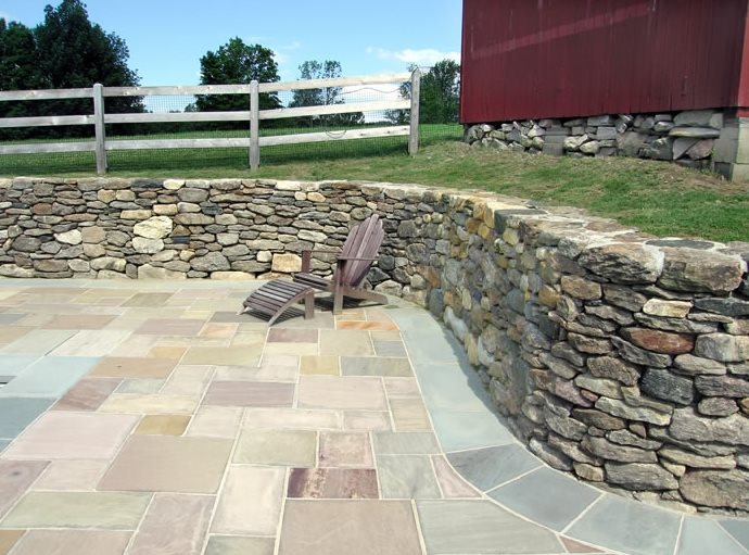 Fieldstone Walls Landscaping : Retaining and landscape wall new milford ct photo