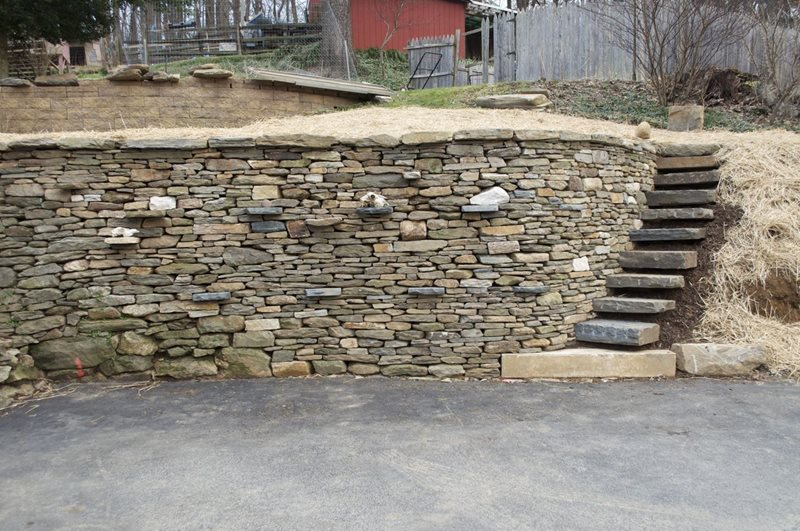 Reclaimed Stone Wall Retaining and Landscape Wall Rockin Walls Hampstead, MD