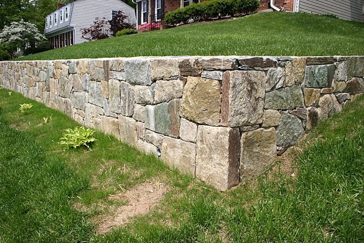 Landscaping Stone Maryland : Retaining and landscape wall spencerville md photo