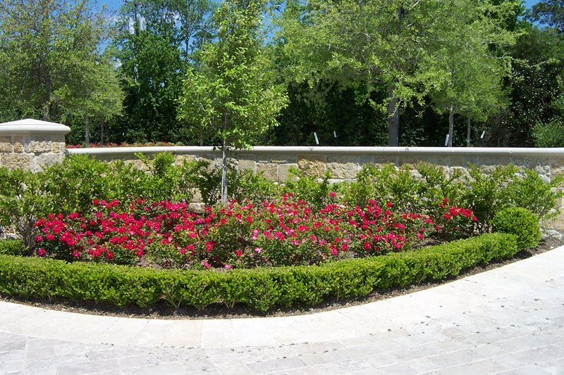 Stone Wall, Plantings Retaining and Landscape Wall ForeverGreen Landscape Dallas, TX