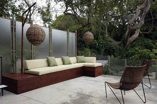 Built In Patio Seating Area Mark Tessier Landscape Architecture Santa Monica Ca