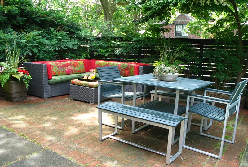 City Garden Patio Seating Area Livable Landscapes Wyndmoor, PA