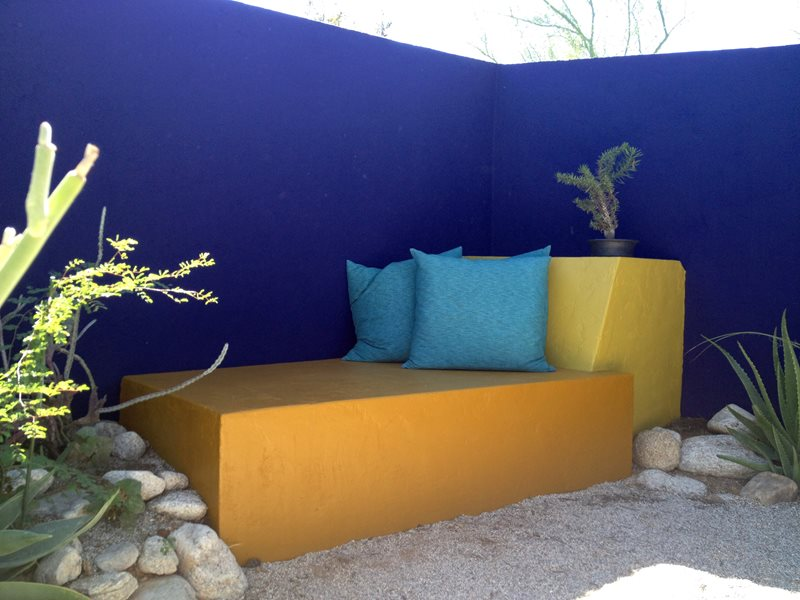 Colorful Wall, Purple Wall Seating Area Landscaping Network Calimesa, CA