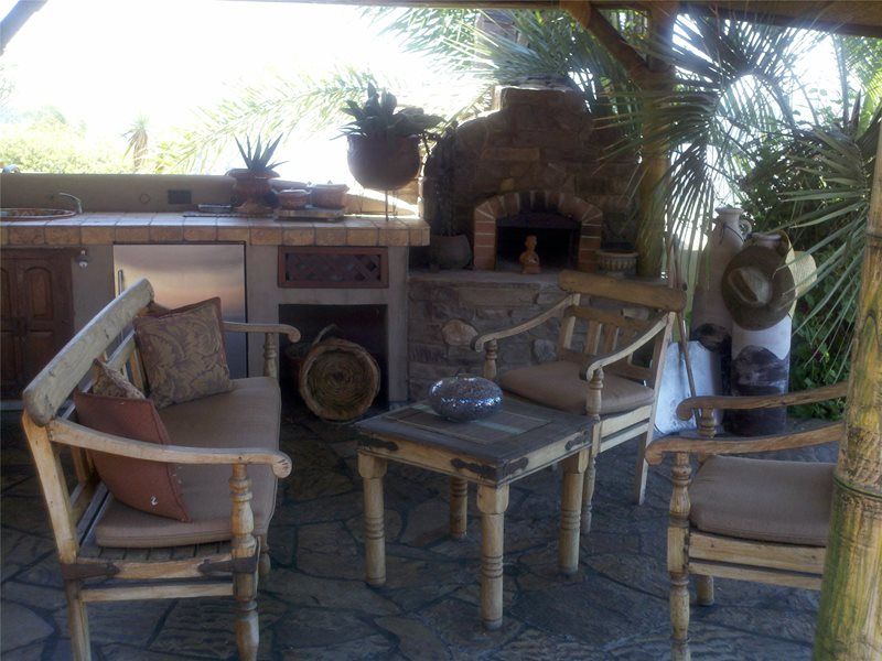 Teak Patio Set Seating Area Art Effects Escondido, CA