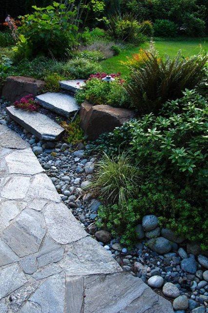 Flagstone Paving, Stone Steps Seattle Landscaping N.W. Bloom Mill Creek, WA