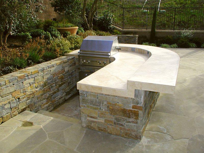 Simple Built-in Barbecues AMS Landscape Design Studios Newport Beach, CA