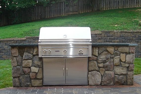 Simple Built-in Barbecues Hometown Landscape & Lawn Service Silver Spring, MD