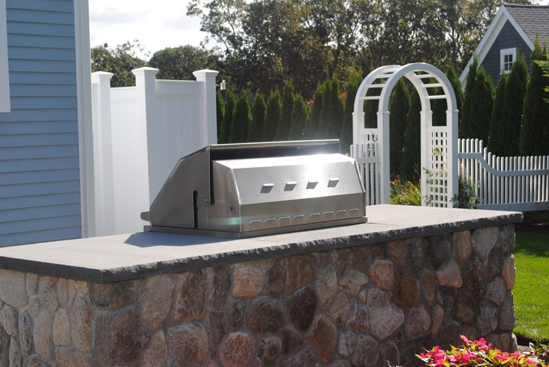 Mccullen Grill Simple Built-in Barbecues O'Leary Landscaping Harwich, MA