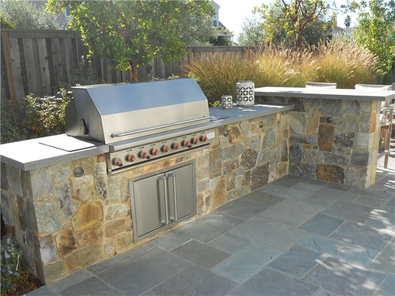 Simple Built-in Barbecues Shades of Green Landscape Architecture Sausalito, CA