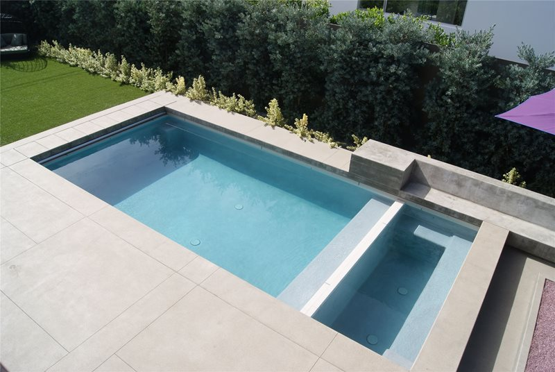 Minimalist Swimming Pool Z Freedman Landscape Design Venice, CA