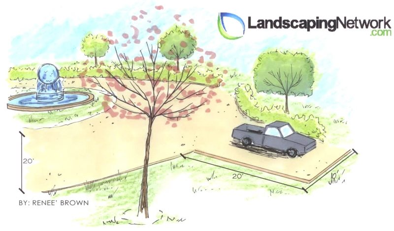 Driveway Drawing Landscaping Network Calimesa, CA