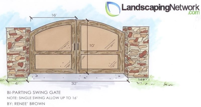 Entry Gate Drawing Landscaping Network Calimesa, CA