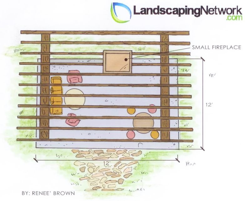 Fireplace Drawing Landscaping Network Calimesa, CA