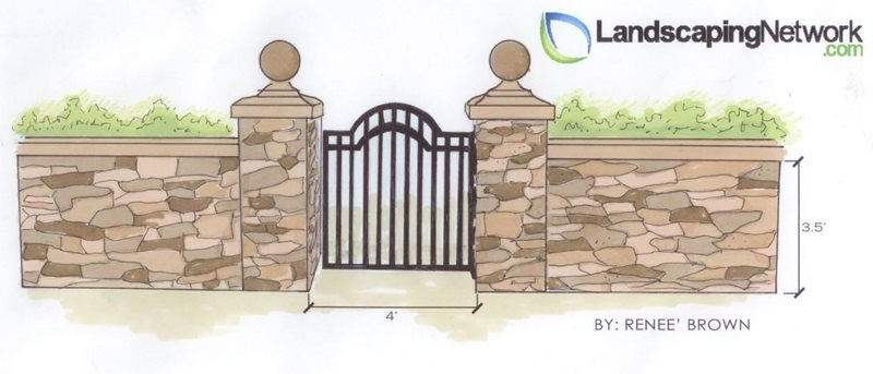 Gate Drawing Landscaping Network Calimesa, CA