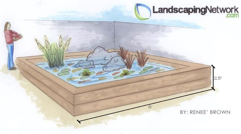 Pond Drawing Landscaping Network Calimesa, CA