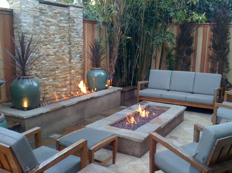 Backyard Fire Feature Southern California Landscaping Jds Landscape Design Hermosa Beach Ca