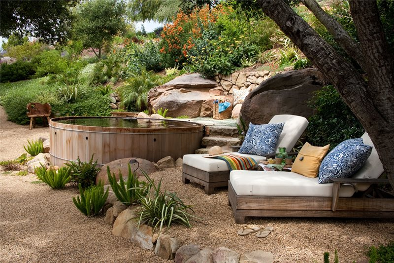 Cedar Spool Southern California Landscaping Grace Design Associates Santa Barbara, CA