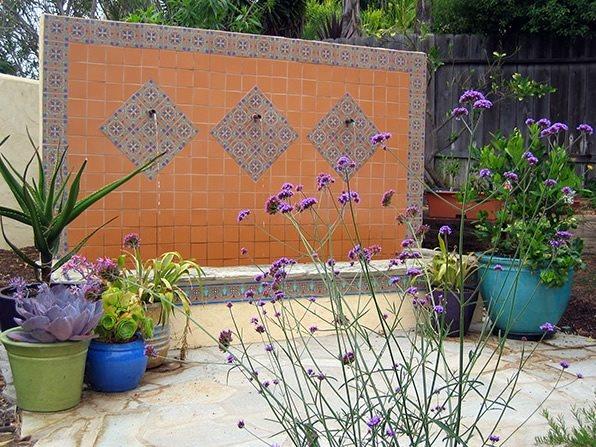 Custom Wall Fountain Southern California Landscaping Amelia B. Lima & Associates San Diego, CA