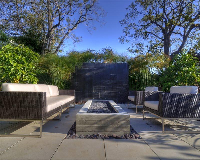 Long Fire Pit Southern California Landscaping Z Freedman Landscape Design Venice, CA