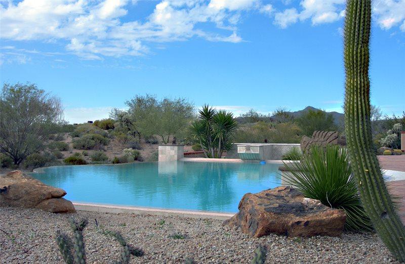 Desert Pool Southwestern Landscaping PlanWorx Dallas, TX