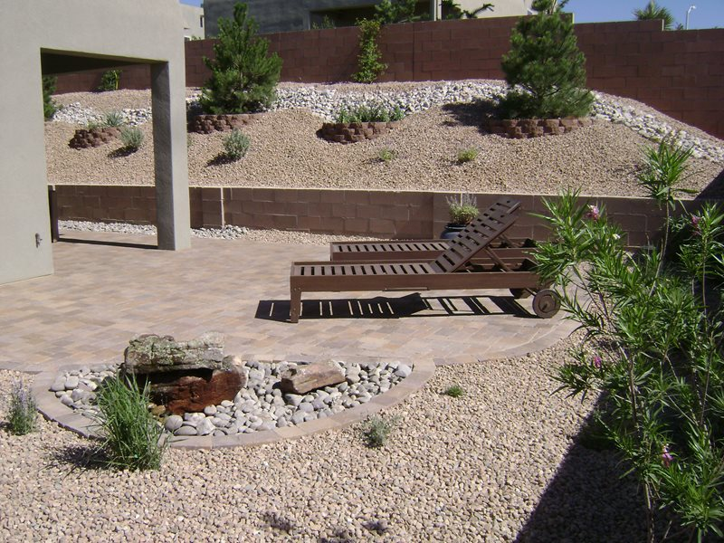 Lawnless Backyard, Desert Backyard Southwestern Landscaping WaterQuest, Inc. Albuquerque, NM