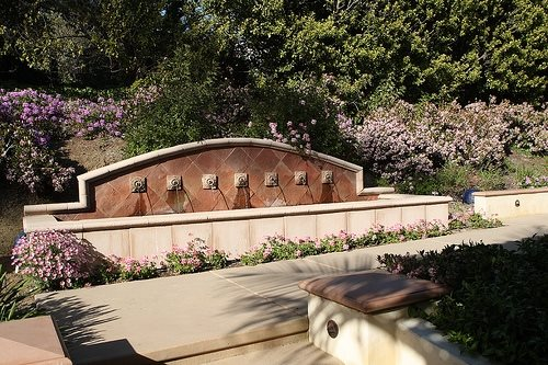 Mediterranean Fountain, Fountain Design Southwestern Landscaping David Reed Landscape Architects San Diego, CA
