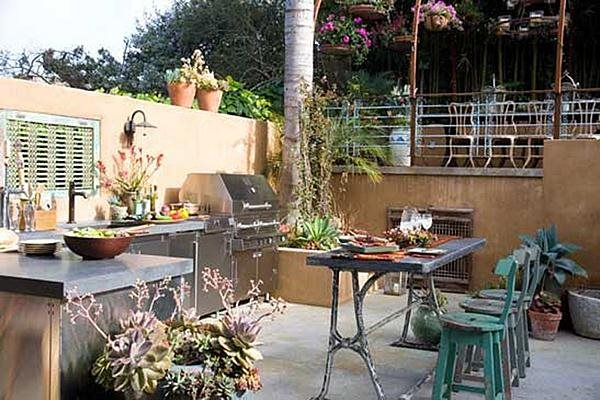 Outdoor Cooking Southwestern Landscaping Sandy Koepke Interior Design Los Angeles, CA