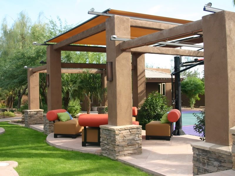 Southwestern landscaping phoenix az photo gallery for Outdoor cabana designs