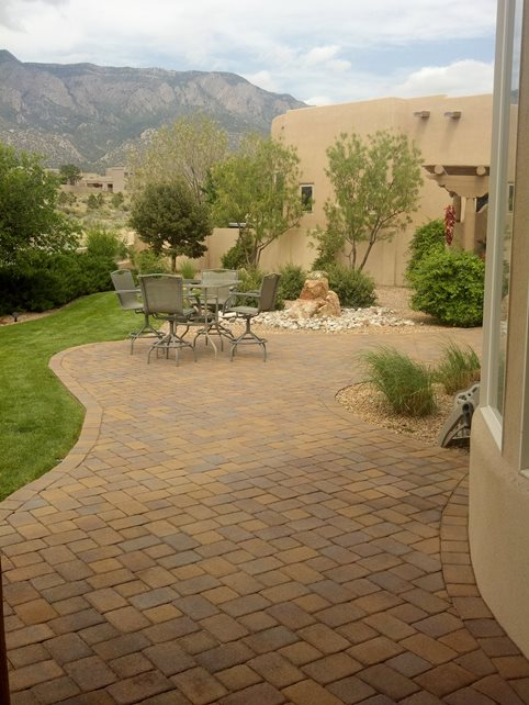 Southwest Patio, Lawn Strip Southwestern Landscaping WaterQuest, Inc. Albuquerque, NM